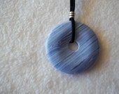 CLEARANCE.  Loyalty. Sky Blue, Lace Agate Pendant, Agate Pendant Necklace, Blue Necklace