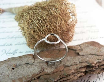 silver stacking ring, yellow gold or rhodium plated