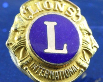 Lions International Vintage Lapel Collar Pin - 10 KGF