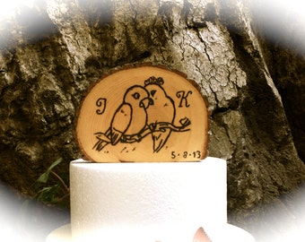 Love Birds Cake Topper - Wooden Wedding Cake Topper - Love Birds Wedding Cake Topper - Wedding Cake Toppers - Wedding Cake Topper