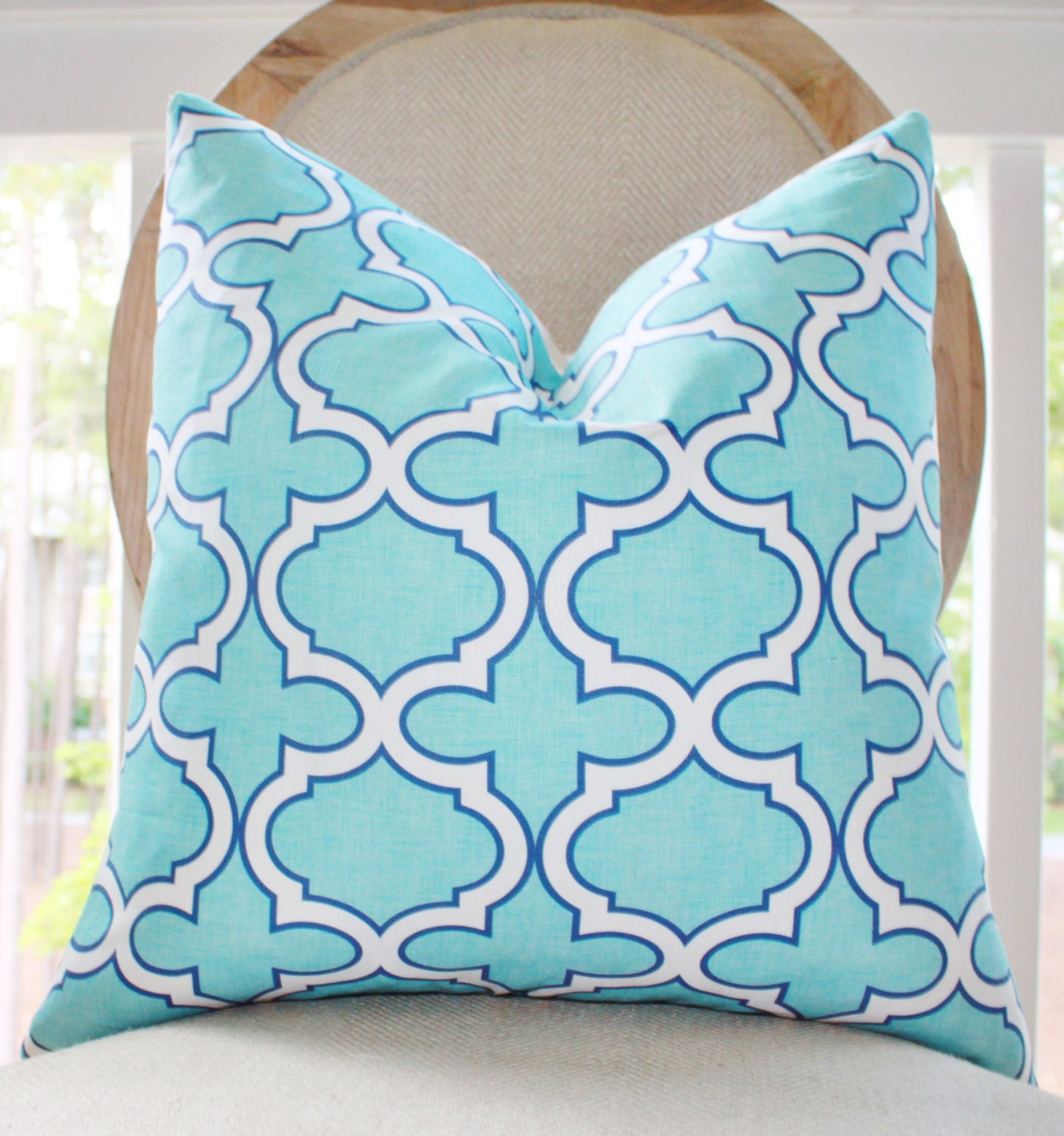 25 00 18 or 20 turquoise pillow cover aqua 87861