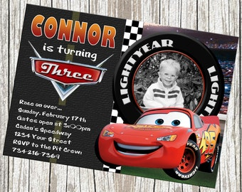 disney cars birthday  etsy, Birthday invitations