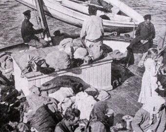 Russian Scene  on Volga 1900s - limited edition screenprint