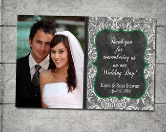Wedding Thank You Photo Cards - Print your own file or Printed Cards with envelopes