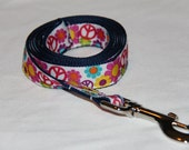 Dog Leash- Flowers & Peace