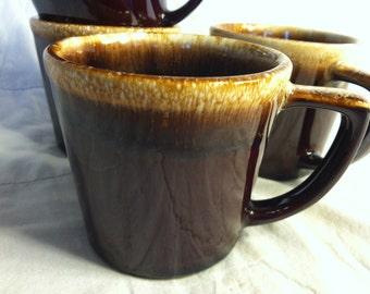 Wonderful USA Made Brown Drip Glazed Coffee Cup or Mug Hull or McCoy (1)
