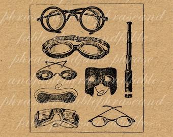 Eyewear 182 Glasses Telescope Goggles Spectacles Sight See Eyes Optical Optometrist Medical Vintage Digital