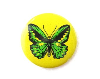 Pinback Button Pin Pins Soviet Vintage Retro Pins Butterfly Brooch, Pins Collectibles, Old Pinback Button