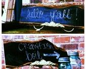 CLEARANCE Cedar Wood Chalkboard