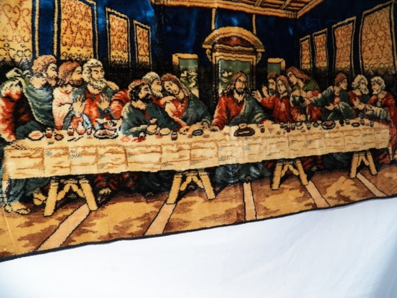 Items Similar To Vintage Last Supper Tapestry Made In