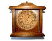 Wooden Clock Coaster Set 1970s MCM Barware