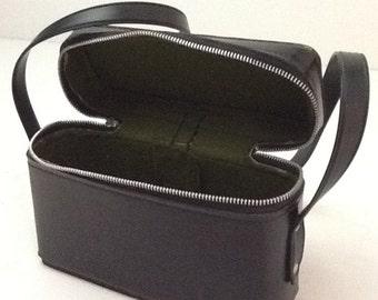 Vintage Black Leather Camera Case