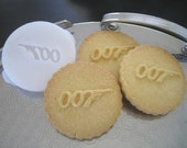 007 James BOND inspired COOKIE STAMP recipe and instructions - make your own inspired cookies
