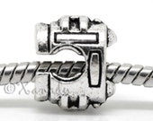 Sewing Machine European Charm Bead For European Charm Bracelets - Gift Idea For Crafters, Sewers, Quliters And Fashion Design Students