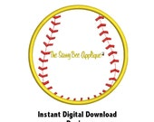 DD Softball Large Applique - Machine Embroidery Design - Use With Team Name Design - 1 Size - Instant Download