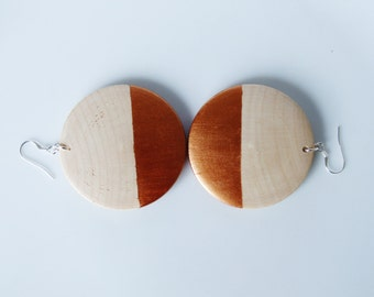 More options Wooden Gilded Dipped Earrings 925