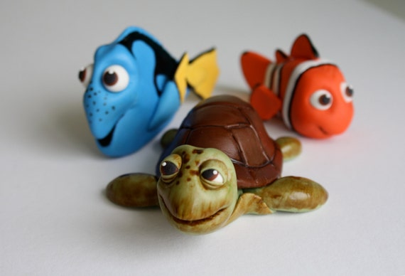 How To Make Finding Nemo Fondant Cake Toppers