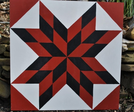 Items similar to High Point Firestar - Barn Quilt Square ...