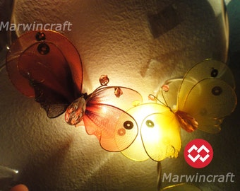 20 Butterfly Bug Multi Colour Fairy Lights String 3.5M Cute Baby Party Patio Wedding Floor Table or Hanging Gift Home Decor Living Bedroom