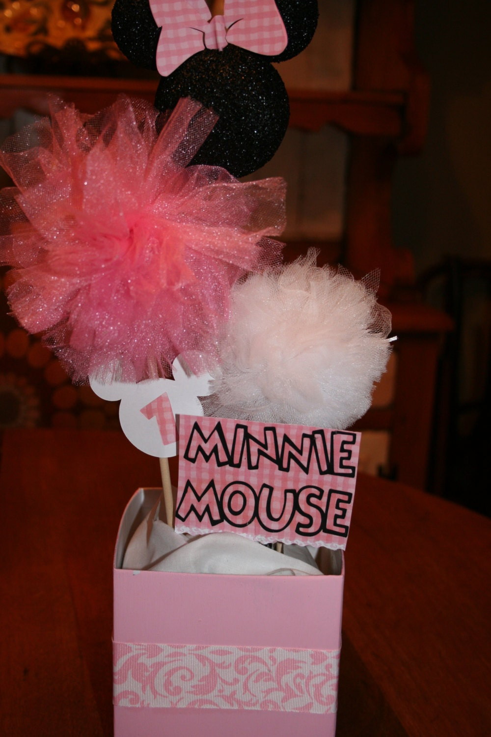 minnie mouse birthday party baby shower decorations by hkgmom