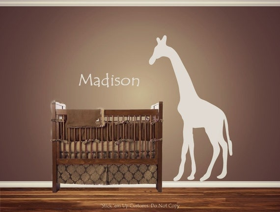 Personalized Custom Giraffe Animal Nursery By