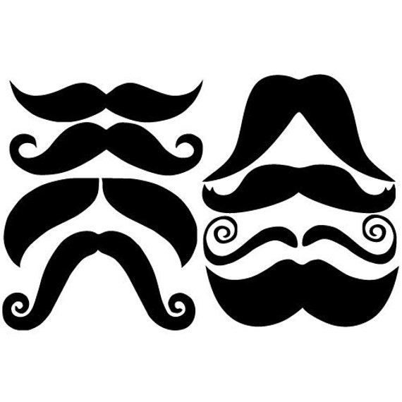 Mustache Vinyl Decal Stickers For Mugs Cups Laptops - Vinyl stickers