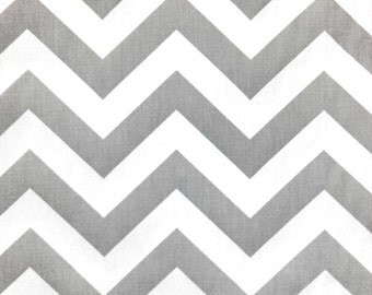 1/2 Yard Gray White Chevron,  Premier Prints ZigZag Storm Twill  - Zig Zag  Home Decor Weight