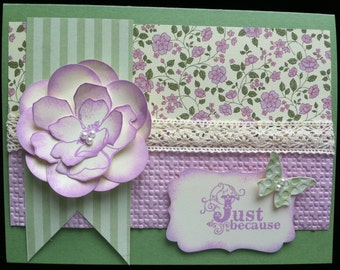 """Floral """"Just Because"""" greeting card"""