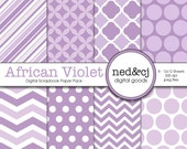 Digital Scrapbook Paper Pack - African Violet - 2013 Pantone Spring Collection - INSTANT DOWNLOAD