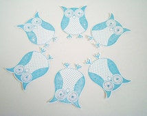 10 Hand made  Stampin Up Paper Owls, Scrapbooking, Embellishments, hand stamped - cute owls - papercrafting