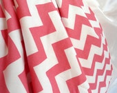"Personalized Pink Chevron Baby Blanket with White Minky, Girls, 29"" x 35"" Custom Embroidery, Car Seat Receiving Stroller Blanket"