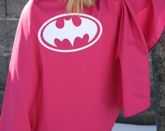 Girls REVERSIBLE Superman / Batman Capes Great for Birthday Double Sided Cape