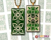 St PATRICKS'S DAY LUCK- 1x2 inch  Printable Digital Collage Sheet Celtic Digital images for domino pendants magnets paper craft