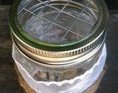 Mason Jar Frog Lids - Floral Supplies - Flower Arrangements - Decor