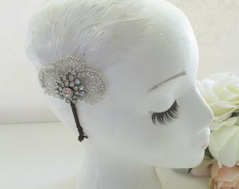Bridal Headband /  Flower Headband  / The Francine Headband