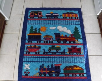 Popular Items For Train Quilts On Etsy