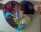 Grateful dead heart & bolt collage patch
