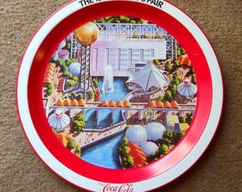 Vintage 1982 World's Fair Coke Tray.  Collectors Item.  Great for a Wall Hanging or to Complete Your Coke Collection
