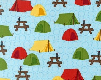 Tents from Roughin' It by Laurie Wisbrun for Robert Kaufman Fabrics 1 Yard Cut