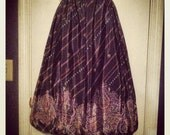 Vintage Howard Holt New York/Dallas Boho Chic Circle Bubble Skirt Palazzo Style  -Very Rare-Reserved for Yasminthegympsy