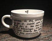 Personalize your own mug with anything you'd like