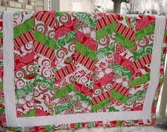 ON SALE! Christmas Herringbone Quilt