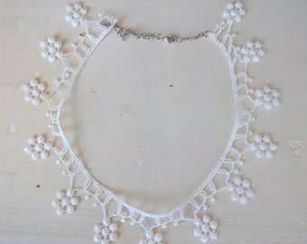White Lace choker,lace necklace,Women accessory,Summer Fashion lace necklace,romantic-Your choice of color