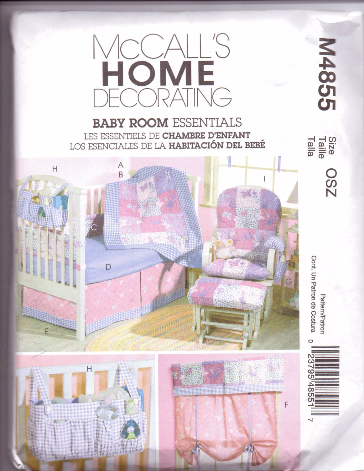 Quilting Room Wall Decor : New mccalls pattern home decor baby room wall hanging quilt