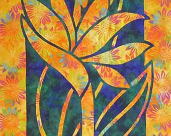 Bird Of Paradise Quilt Pattern Pacific Rim Quilt Company DIY Quilting Sewing