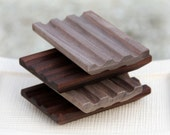 Natural Black Walnut - WOODEN SOAP DECK - Soap Holder Dish