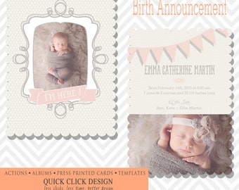 5x7 WHCC Boutique Flat Card /  Birth Announcement