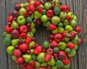 Fruit Wreath, Artificial Miniature Fruit Wreath - DyJoDesigns