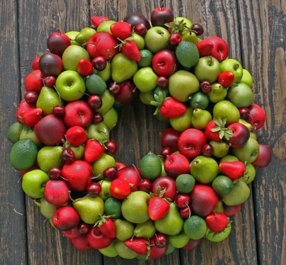 Fruit Wreath, Artificial Miniature Fruit Wreath