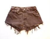 Vintage Levis 501 Original Washed out Brown